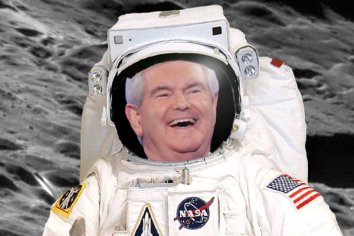 Newt Gingrich on the moon